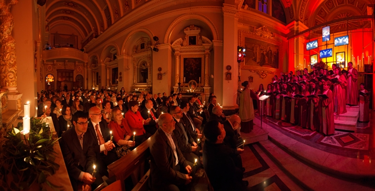 Carols by Candlelight 2014 pano