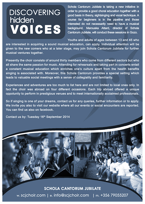 flyer dicovering new voices