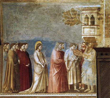 The virgin wedding procession by Giotto