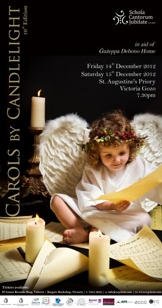 Poster used for Carols by Candlelight 10th edition