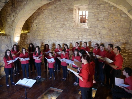 4. SCJ performing at St. Cecilia medieval chapel