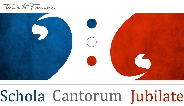 Logo used by Schola Cantorum Jubilate on their tour to France in 2012